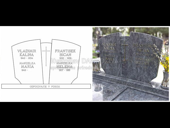 Náhľad rozloženia textu na pomníku. Vizualizácia a realizácia.