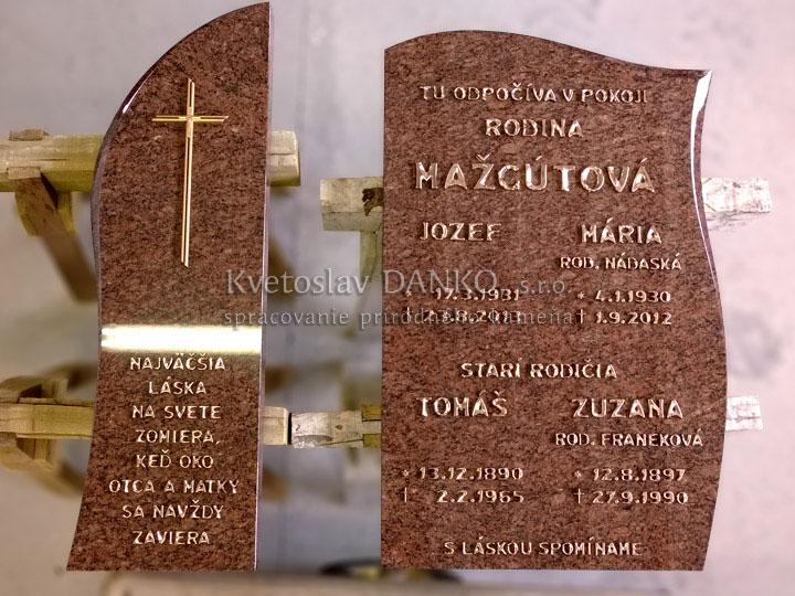 Kovové písmo na pomník