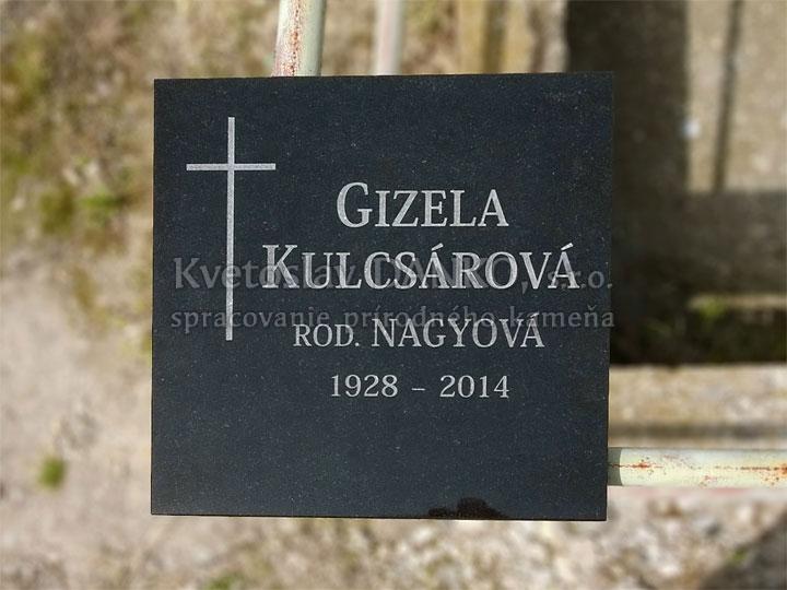 Epitafná tabuľka z čierneho kameňa