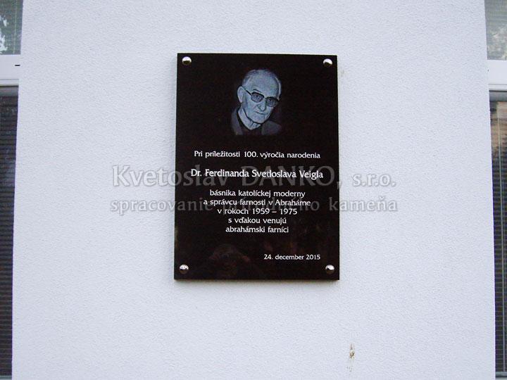 Pamätná tabuľa pre Ferdinanda Veigla