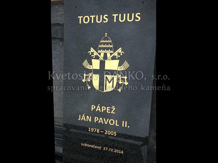 Pamätná tabuľa Jána Pavla II.
