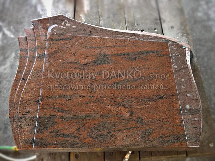 Výroba tvarovaného pomníka - zápichy
